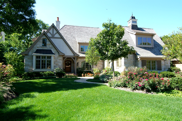 French Style Stucco Stone Home